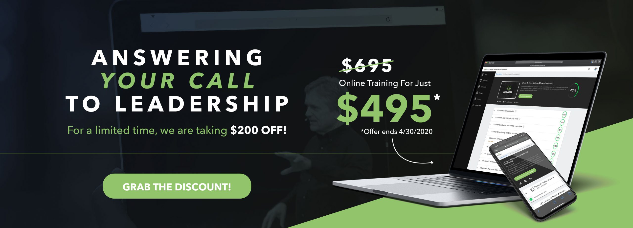 DOVE Global Leadership & Ministry School Discount